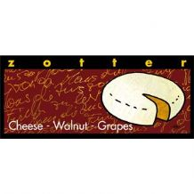 Zotter Cheese, Walnut & Grapes Chocolate Bar 45% 70g